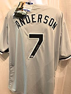 Tim Anderson Chicago White Sox Signed Autograph Custom Grey Jersey JSA Certified