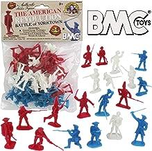 BMC Revolutionary War Plastic Army Men - 34 British, American, French Soldiers