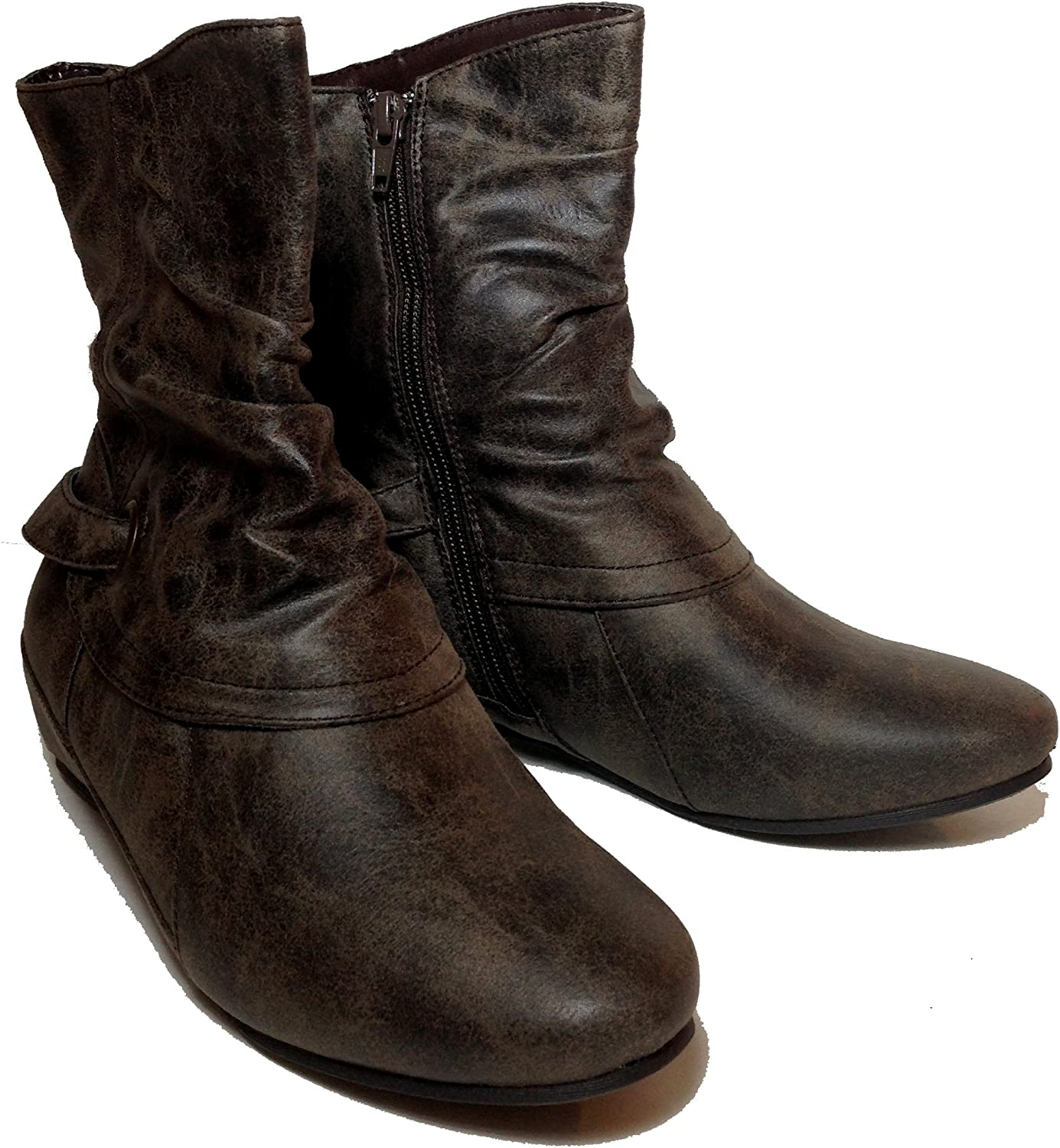 Bass Heritage Collection Women's Katya Ankle Mushroom Boots Size 6.5 M