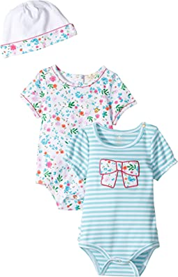 Kate Spade New York Kids - Bodysuits and Cap Set (Infant)
