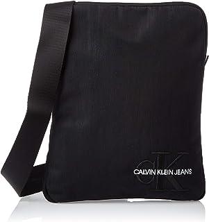 Calvin Klein Girl's Monogram Nylon Flat Pack Shoulder Bag, Color: Black