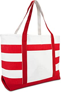 large red beach bag