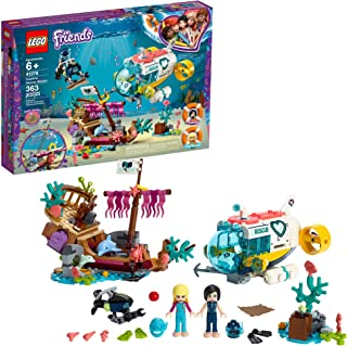LEGO Friends Dolphins Rescue Mission 41378 Building Kit with Toy Submarine and Sea Creatures, Fun Sea Life Playset with Ka...