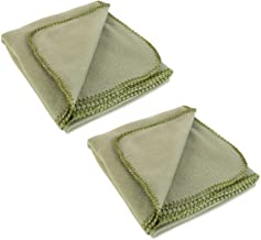 DII Reversible Plush Fleece Throw Blanket, 50x60, Capulet Olive 2 Piece