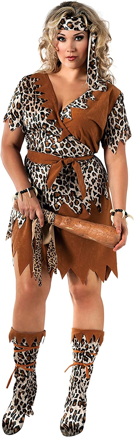 Cave Woman Plus Costume For Adults