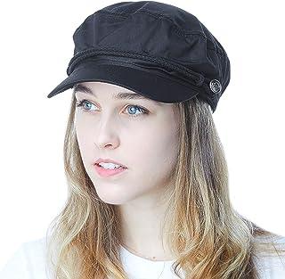 f139ccc9c98f3 THE HAT DEPOT Black Horn Unisex Cotton Greek Fisherman s Sailor Fiddler Hat  Cap