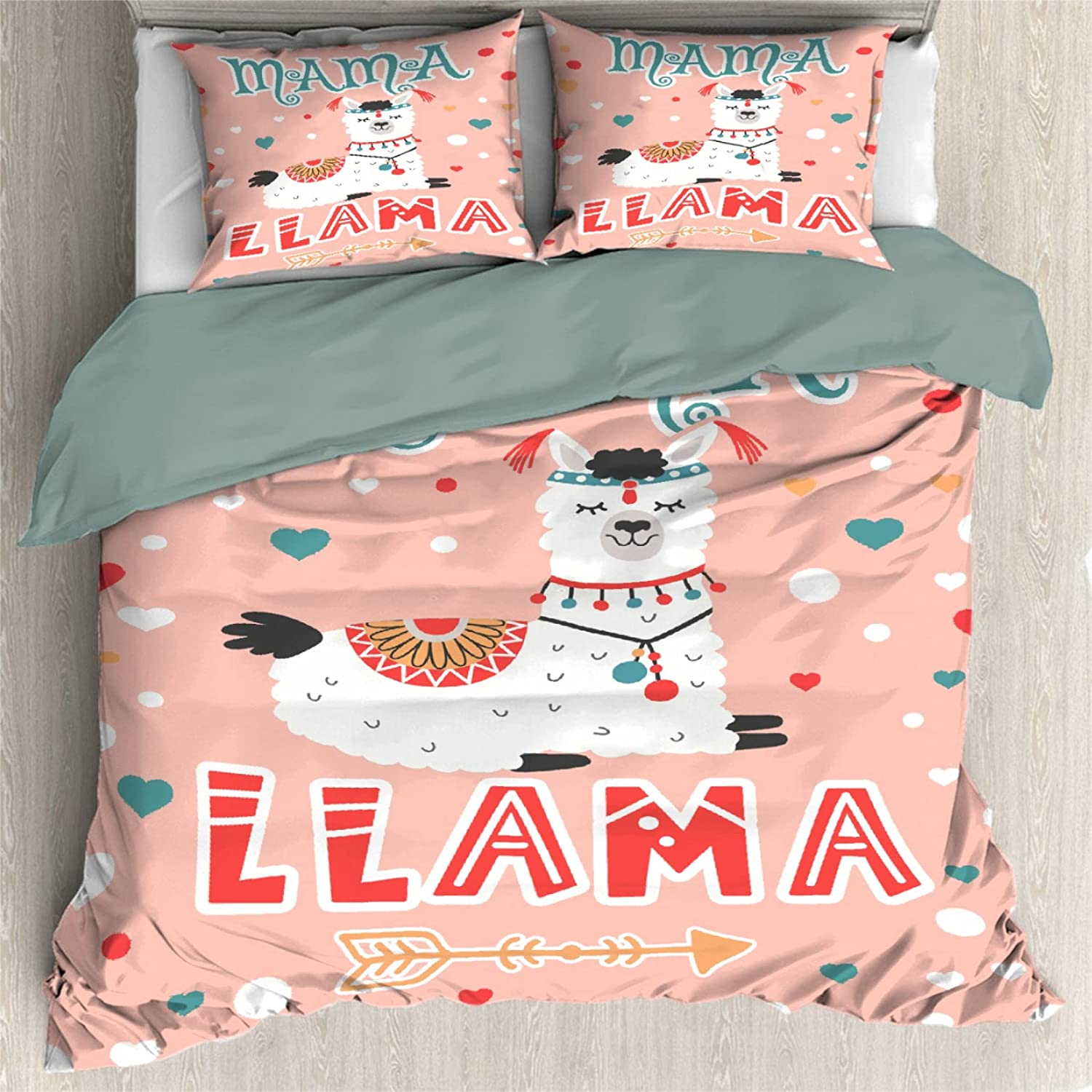 Comforter Cover 3 Max 90% OFF Pieces Bedding Set Fashion Llama Mama Soft Ultra Gift