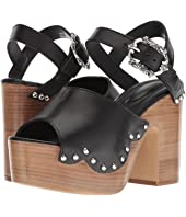 The Kooples - Wood Heel Leather Sandal