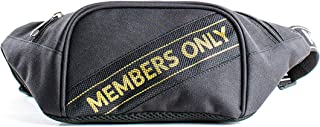 Members Only Mesh Printed Black Fanny Backpack, Waist Bag