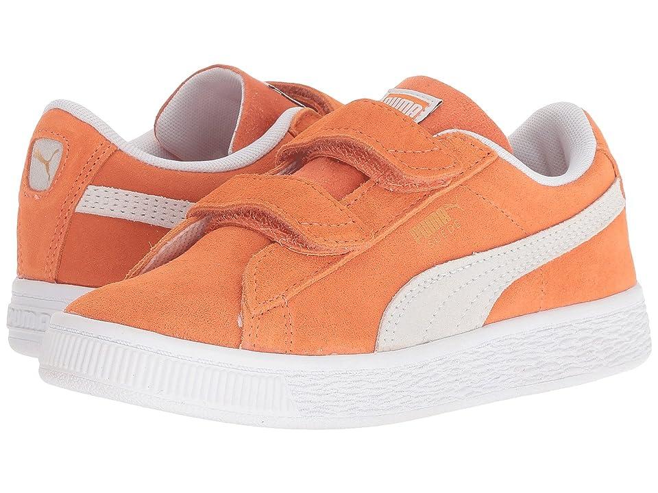 Puma Kids Suede Classic V (Little Kid) (Melon/PUMA White) Kids Shoes