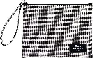 حقيبة مسطحة سادة من أكسسوارات السفر لتنظيم أدوات التجميل ومستحضرات التجميل (L، تصميم هاوند تشيك) من آيكونيك