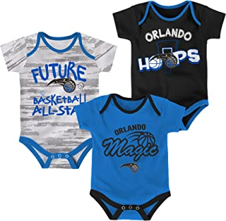 Outerstuff NBA Unisex-Baby NBA Newborn & Infant 3 Piece Onesie Set