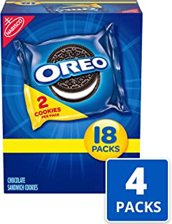 Oreo Chocolate Sandwich Cookies - 72 Snack Packs (144 Cookies Total)