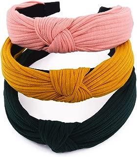 STHUAHE 3PCS Hair Hoop,Women Handmade Solid Colors Cloth Cross Knot Hair Hoop Hairband Headband Headwear Hair Accessories by Beauty Hair (3 Color)