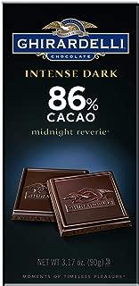 Ghirardelli Chocolate Intense Dark Bar, Midnight Reverie, 3.17 Oz, Pack of 6