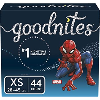 Goodnites Bedwetting Underwear for Boys, X-Small, 44 Ct