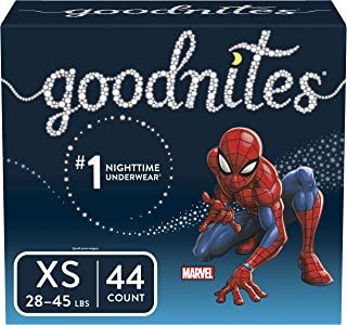 Goodnites Bedwetting Underwear for Boys, X-Small (28-45 lb.), 44 Ct (Packaging May Vary)