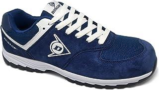 Dunlop DL0201026-45 Zapato, Piel de Ante y Mesh, Marino, 45