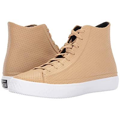 Converse Chuck Taylor All Star Modern Perforated Leather (Light Fawn/Light Twine) Shoes