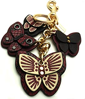 Coach Butterfly Cluster Bag Charm Key Fob