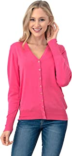 Women's Button Down Cardigan Sweater - V-Neck Soft