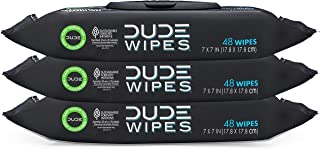 DUDE Wipes Flushable Wet Wipes Dispenser (3 Packs 48 Wipes), Unscented Wet Wipes with Vitamin-E & Aloe for at-Home Use, Septic and Sewer Safe