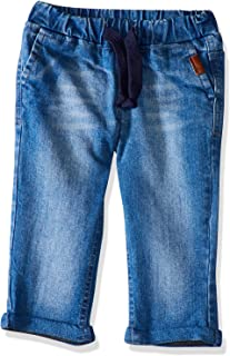Giggles Side Pocket Elastic Drawstring Waist Denim Pants for Boys