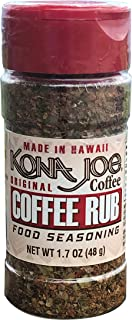 Kona Joe Coffee Rub Food Seasoning, All Natural Spices for Grilling and Seasoning Seafood, Beef or Chicken (1.7 oz)