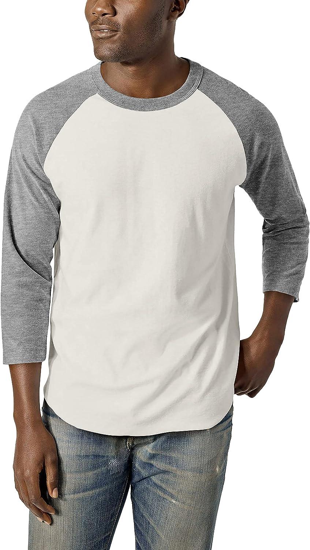 Hat and Beyond Mens OFFicial shop 3 4 Sleeve Dual Color Raglan Baseball T Award Tee