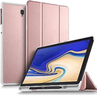 Luibor Samsung Galaxy Tab S4 10.5 SM-T830/SM-T835 Estuche - Cubierta elegante y delgado Estuche de piel ultra ligero Estuche para Samsung Galaxy Tab S4 10.5 SM-T830 (Wi-Fi) y SM-T835 (4G LTE) tableta (Oro Rosa)