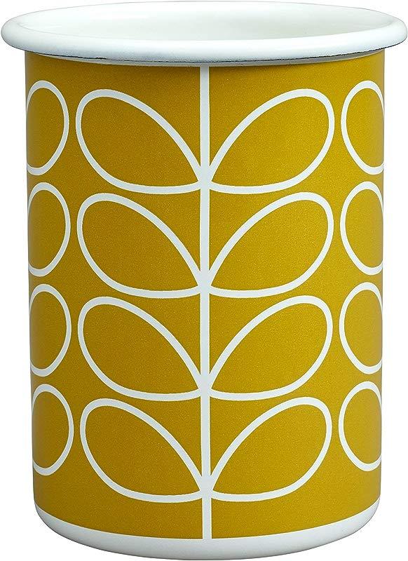 Orla Kiely Enamel Tumbler Dandelion Yellow 350ml Capacity