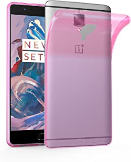 Cadorabo Case Works with OnePlus 3 / 3T in Transparent Pink – Shockproof and Scratch Resistant TPU Silicone Cover – Ultra Slim Protective Gel Shell Bumper Back Skin