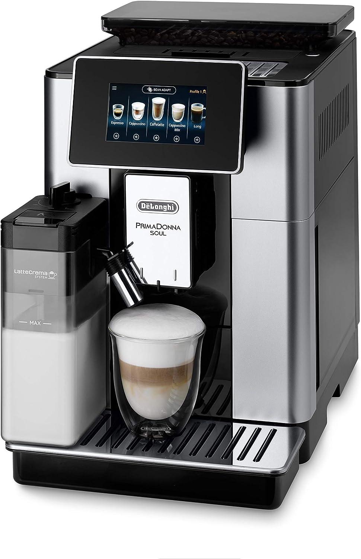 De'Longhi Primadonna Soul ECAM612.55.SB - Cafetera superautomática (19 bares, Pantalla TFT táctil 4.3 '', sistema Cappuccino Automático, control por wifi mediante App) [Exclusiva Amazon]