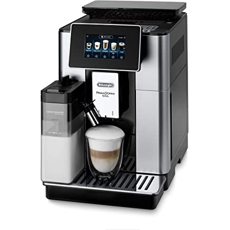 De'Longhi PrimaDonna Soul ECAM612.55.SB, Machine expresso avec broyeur, technologie exclusive Bean Adapt, Argent et Noir