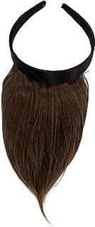 WIG ME UP ® - Peluca, flequillo de clip-in, con diadema, aparencia muy natural, castaño (8) HA073T-8