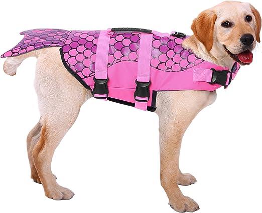 ASENKU Dog Life Jacket Ripstop Pet Floatation Vest Saver Swimsuit   Amazon