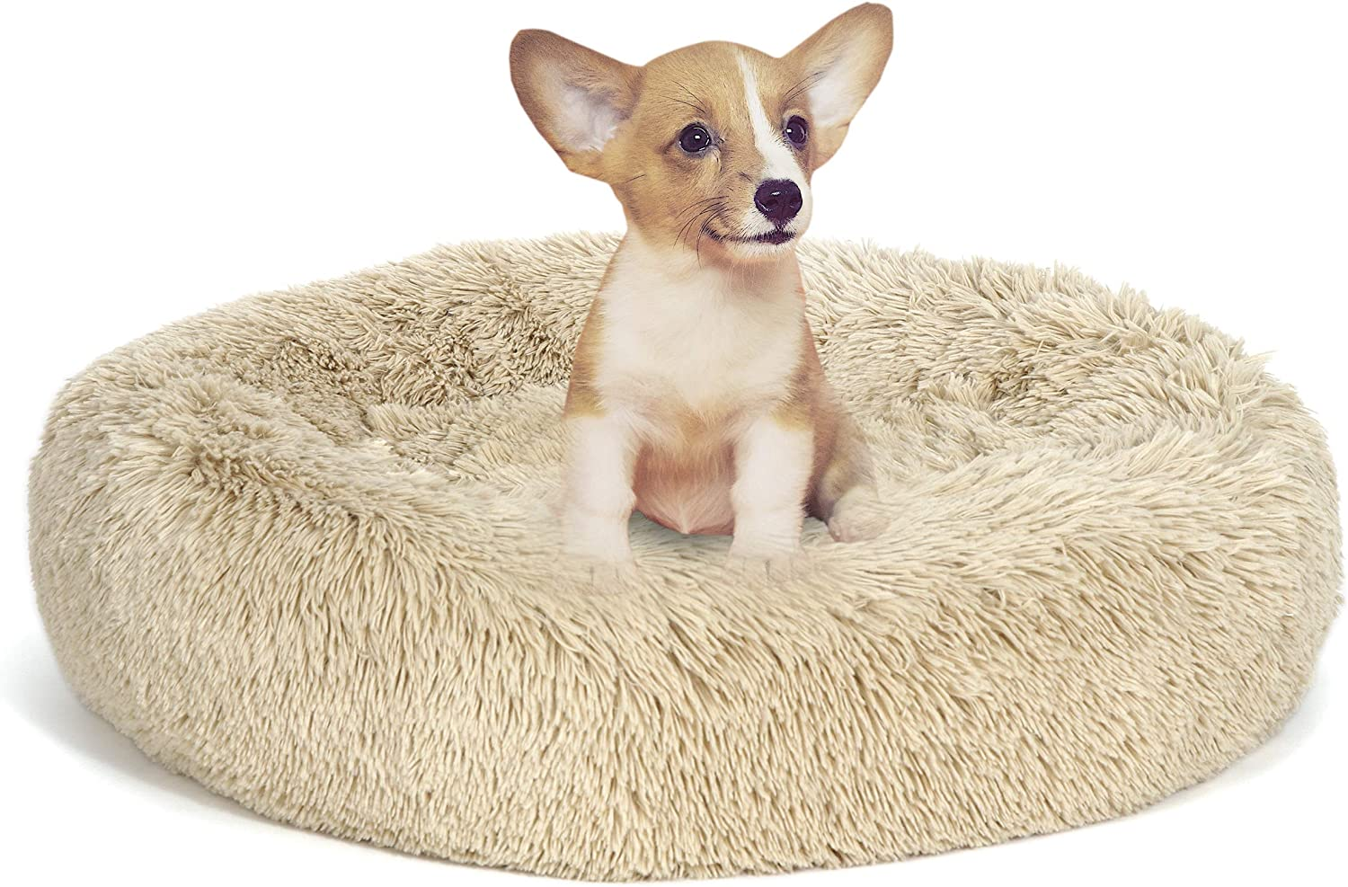 BBBuy 23 40% OFF Cheap Sale Inches Beauty products Dog Bed Calming Soft Fur Ultral S Cuddler Dount