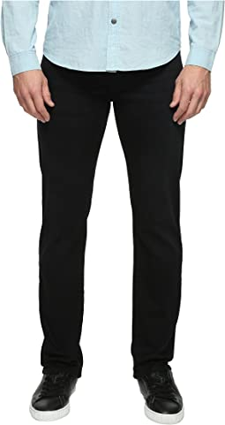 Mavi Jeans Zach Regular Rise Straight Leg in Blue Black Williamsburg