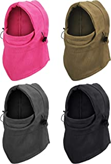 4 Pieces Kids Balaclava Hat Winter Windproof Hat Unisex Children Balaclava Double Layer Ski Face Cover with Thick Warm Fle...