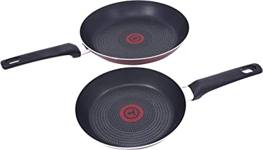 TEFAL Essential 2 Pcs Frypan Set (20/26 cm), red, Aluminium, B3119022