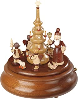 Müller Electronic Music Box, Santa and Gift-brining Angels, Original Erzgebirge by Mueller Seiffen