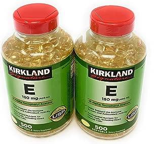 Kirkland Signature, Vitamin E 400 IU brdqt 500 Softgels (Pack of 2)