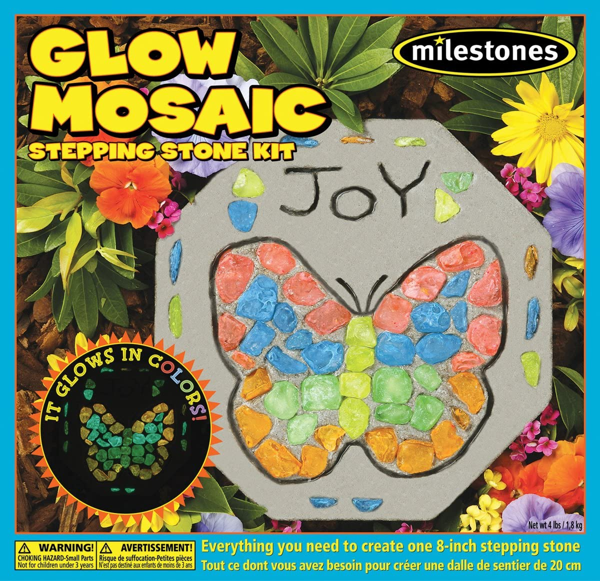 Buy Midwest Products 20 Mosaic Stepping Stone Kit, Glow In ...
