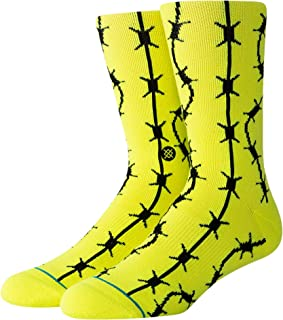 Keep Out Crew Socks [Neon Yellow]