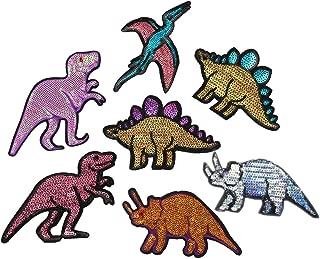 sequin dinosaur patches