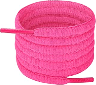 1/4 Oval Athletic Shoelaces 30-57 in 22 Colors Half Round Shoe Laces