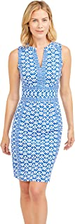 J.McLaughlin Womens Lola Sleeveless Dress in Audin Geo
