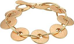 Gold Disc Link Bracelet