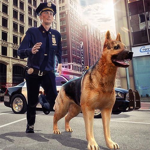 Carro da polícia & dever cão Perseguição Cidade Crime Criminal Attack 3D: policiais vs ladrões gângster luta sobrevivência missão simulador de aventura jogo 2018
