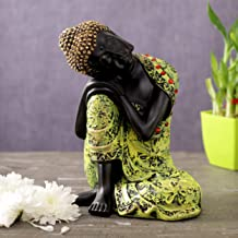 TIED RIBBONS Buddha Idol Figurine Statue Collectible Sculpture for Home Décor- Handmade Resin Figurine for Home Living Roo...